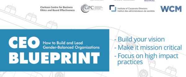 The Canadian Gender & Good Governance Alliance Releases the CEO Blueprint