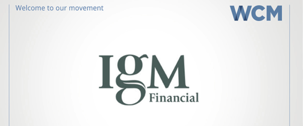 WCM Welcomes IGM Financial as Corporate Sponsor