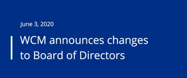 WCM Announces Changes to Board of Directors