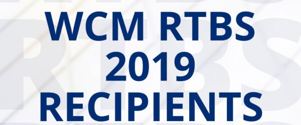WCM Announces RTBS 2019 Award Recipients