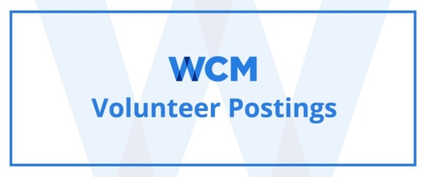 WCM Speaker and Volunteer Opportunities
